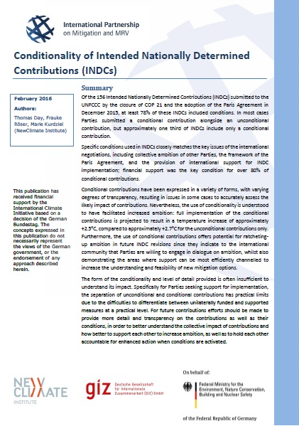 conditionality of indcs